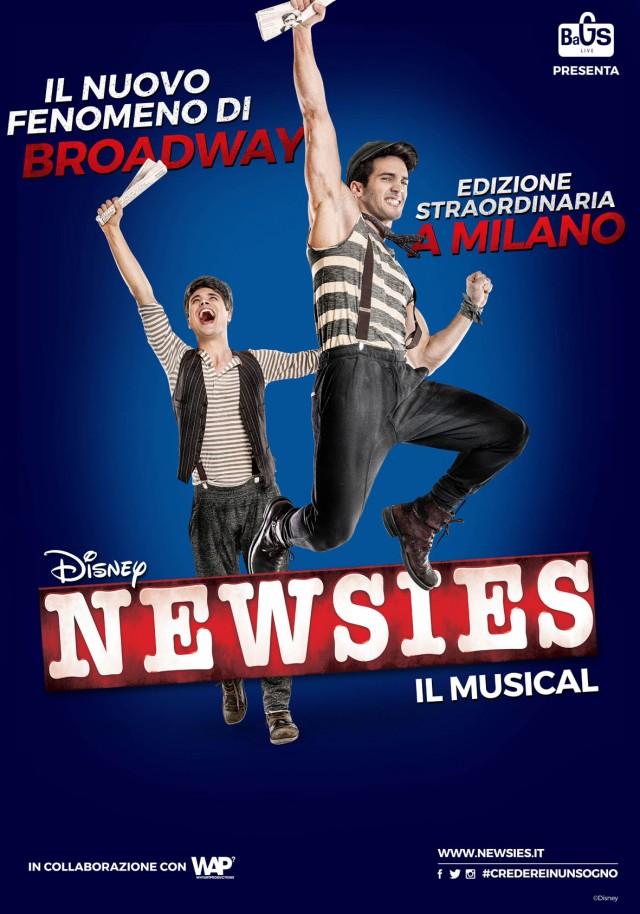 "Simone Leonardi è Joseph Pulitzer nel musical ""Newsies"""