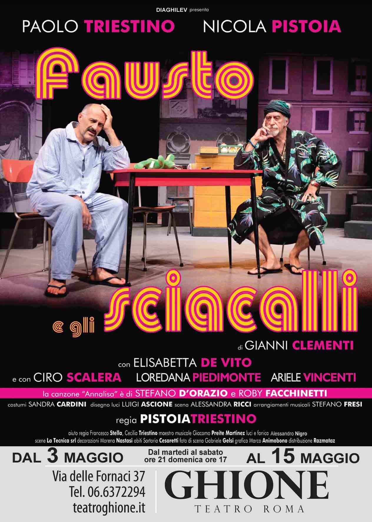 """Elisabetta De Vito e Ciro Scalera in scena """"Fausto e gli sciacalli"""" di Gianni Clementi"""