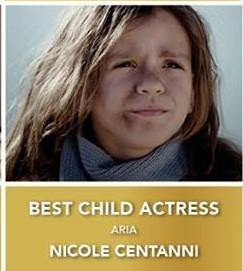 Nicole Centanni premiata per il corto ARIA!