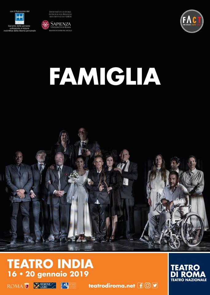 """""""FAMIGLIA"""" di Valentina Esposito – dal 16 al 20 gennaio al TEATRO INDIA"""