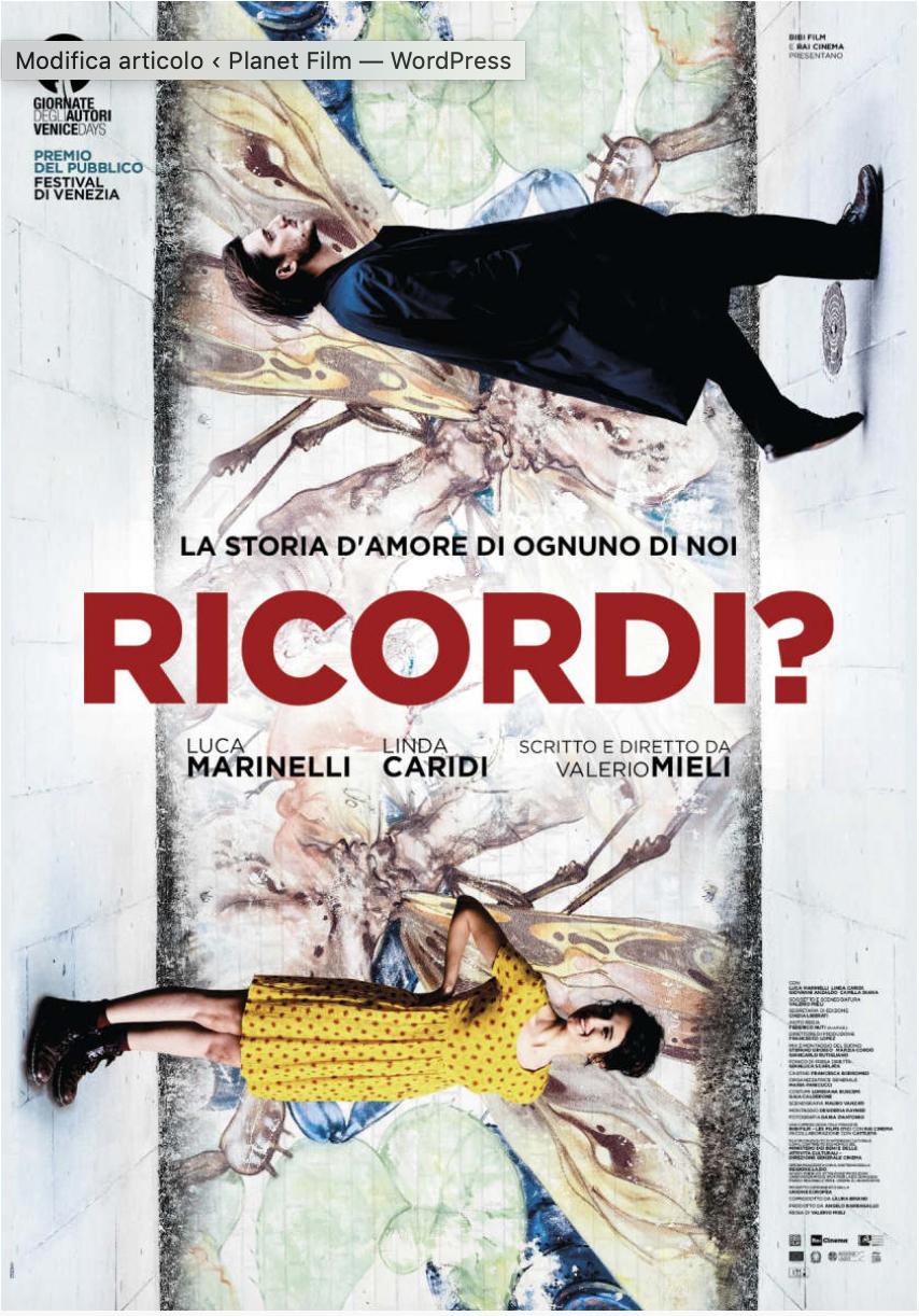 """Jacopo Mandò nel Cast di """"Ricordi?"""""""