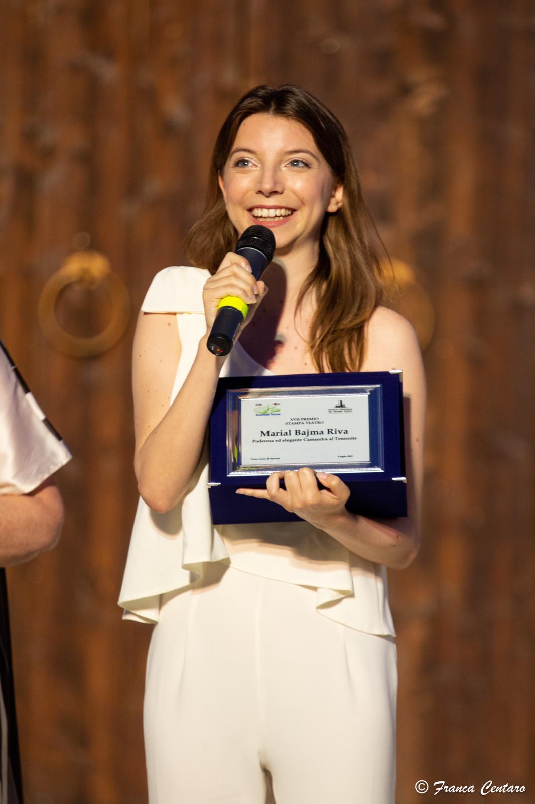 Marial Bajma Riva vince il Premio Stampa Teatro