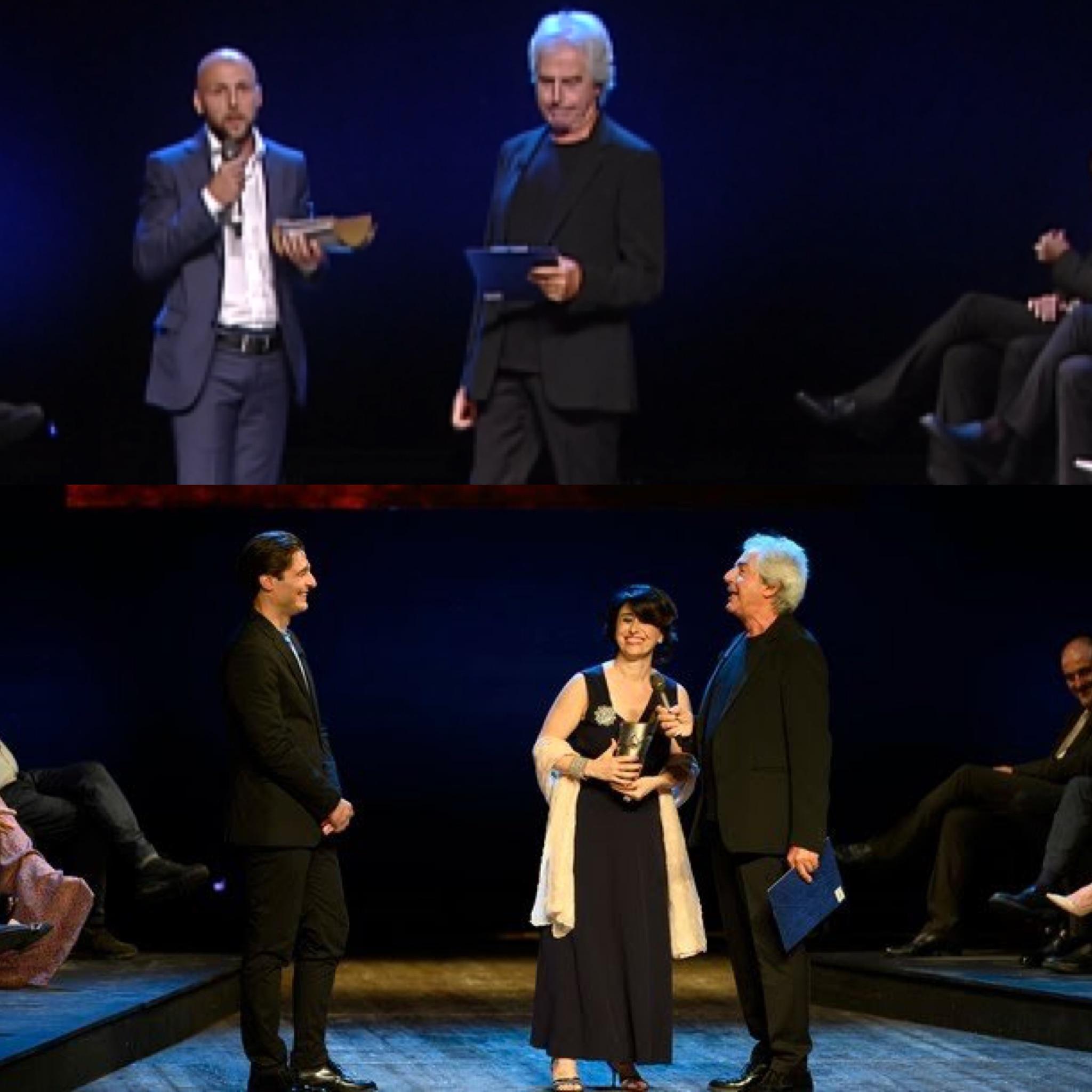 Gabriele Di Luca e Beatrice Schiros premiati alle Maschere del Teatro