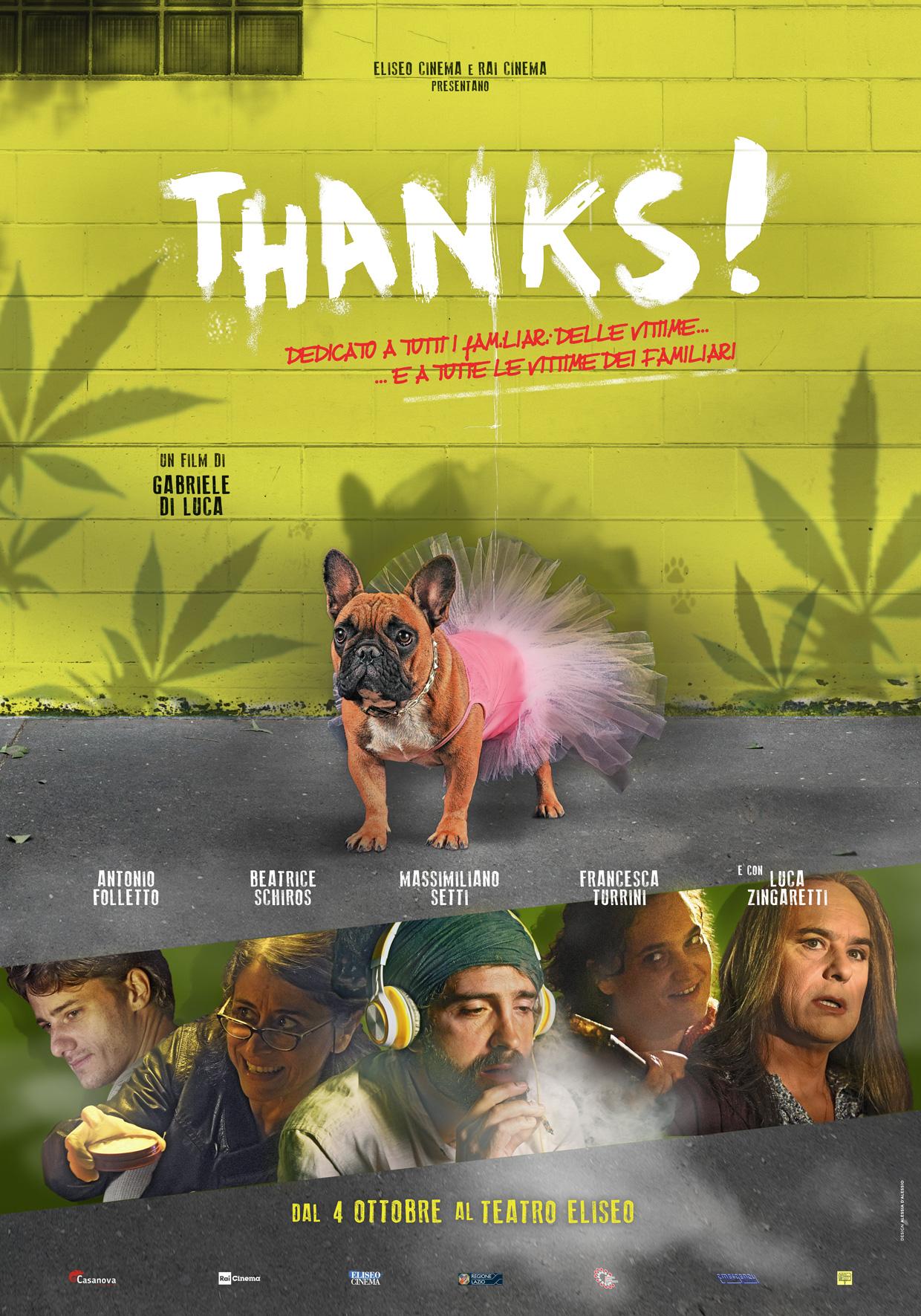 """""""Thanks!"""" il film di Gabriele Di Luca con Beatrice Schiros e Massimiliano Setti dal 4 ottobre in sala"""