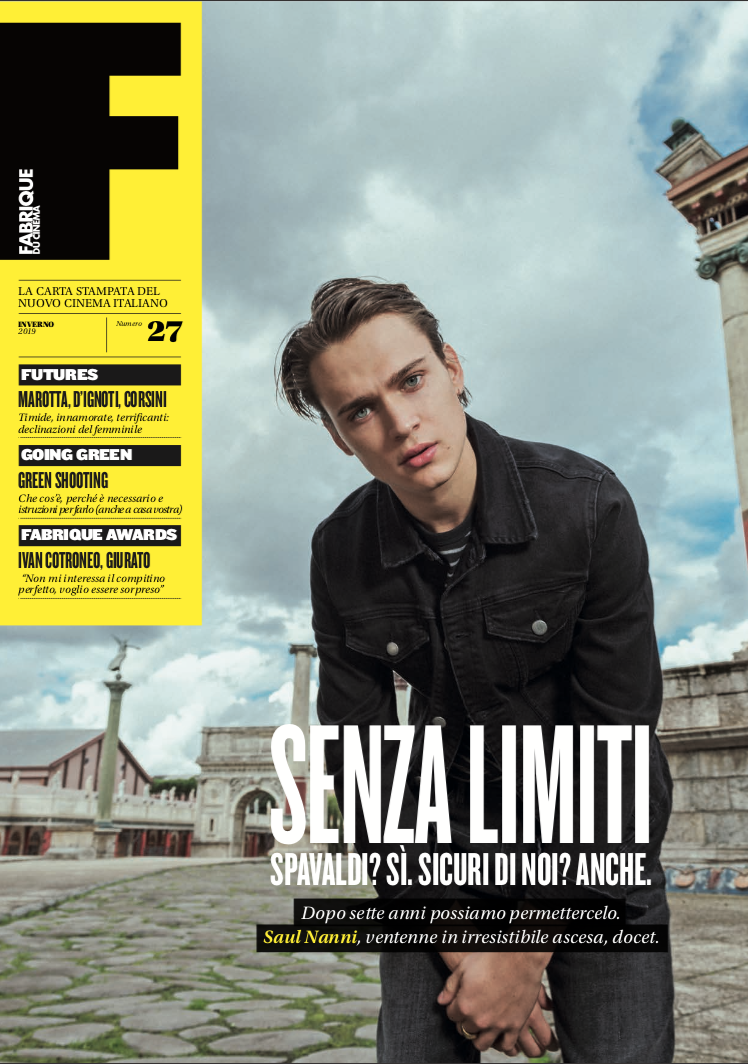 Saul Nanni nella cover story della rivista Fabrique Du Cinema